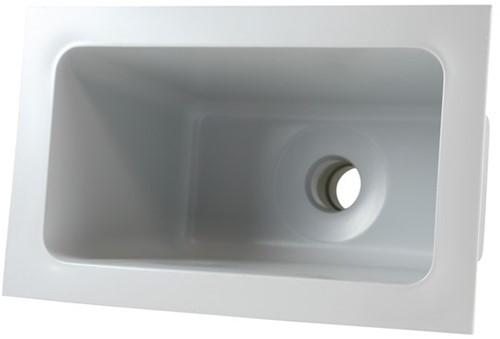 Labstream PP Becken 300x163x230mm, RAL 7035