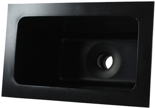 Labstream PE spoelbak 300x163x230mm, zwart