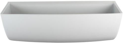 Labstream PP trechter voor wandmontage, RAL7035
