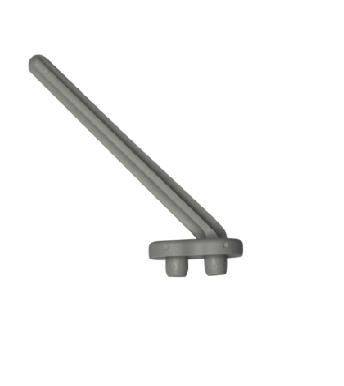 Labstream PP Zapfen für Abtropbrett , Länge 14cm RAL7035