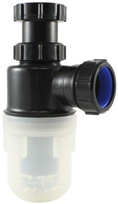 """Labstream PP bekersifon 1,5""""x40mm, doorzichtige beker"""